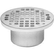 """Oatey 72170 6"""" Round Nickel Grate & Square Ring & Plastic Barrel"""