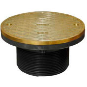 "Oatey 74120 Plastic Barrel Cleanout 6"" IPS Adjustable Barrel & 6"" Round Brass Cover"