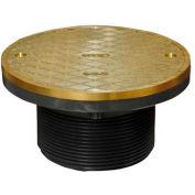 "Oatey 74160 Plastic Barrel Cleanout 6"" IPS Adjustable Barrel & 6"" Round Nickel Cover & Ring"