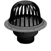 """Oatey 78033 3"""" or 4"""" PVC Roof Drain with ABS Dome & Dam Collar"""