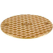 "Oatey 81120 6"" Round Cover, Brass"
