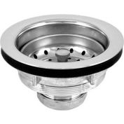 "Oatey L7T Lucky 7 Sink Basket Strainer Chr. Plated Brass Body, SS Basket, 4"" Chr. Plated Tailpiece - Pkg Qty 24"