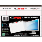 """Roaring Spring® WIDE Landscape Format Writing Pad 74600, 6"""" x 8"""", White, 40 Sheets/Pad, 1/Pack"""
