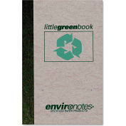 """Roaring Spring® Little Green Book 77357, 6"""" x 4"""", White, 60 Sheets, 1/Pack"""