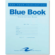 """Roaring Spring® Exam Blue Book 77510, 8-1/2"""" x 7"""", White, 4 Sheets/8 Sheets"""