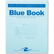 "Roaring Spring® Exam Blue Book 77513, 8-1/2"" x 7"", White, 12 Sheets/24 Sheets"