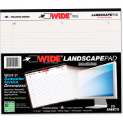 """Roaring Spring® Landscape Format Writing Pad 95510, 11"""" x 9-1/2"""", White, 75 Sheets/Pad, 1/Pack"""