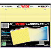 "Roaring Spring® Landscape Format Writing Pad 95511, 11"" x 9-1/2"", Canary, 75 Sheets/Pad, 1/Pack"