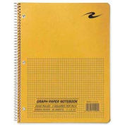 """Roaring Spring® 3-Hole Punched Quad Notebook, 8-1/2"""" x 11"""", Brown Kraft Cover, 80 Sheets/Pad"""