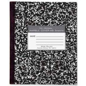 """Roaring Spring® Flex Cover Comp Book, 7"""" x 8-1/2"""", Wide Ruled, Black Marble, 48 Sheets/Pad"""
