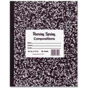 """Roaring Spring® Flex Cover Comp Book, 8"""" x 10"""", Wide Ruled, Black Mable, 60 Sheets/Pad"""