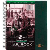 """Roaring Spring® Pockets Plus Wirebound Lab Book, 8-1/2"""" x 11"""", Quad Ruled, 100 Sheets/Pad"""