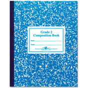 "Roaring Spring® Grade 2 Composition Book, 7-3/4"" x 9-3/4"",Blue, 50 Sht/Pad"