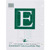"""Roaring Spring® Engineering Calculation Pad, 8-1/2"""" x 11"""", Quad Ruled, Green, 100 Sheets/Pad"""