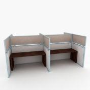 """OBEX P.E 12"""" Acoustical Cubicle Mounted Privacy Panel w/ Large Bracket Birch, 12X42A-A-BI-LP"""