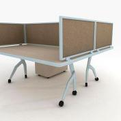 "OBEX P.E 12"" Acoustical Desk Mounted Privacy Panel Verde, 12X42A-A-VE-DM"