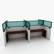 "OBEX P.E 12"" Polycarbonate Cubicle Mounted Privacy Panel w/ Large Bracket Green, 12X42P-B-G-LP"