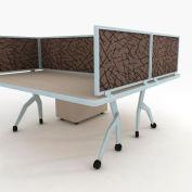 "OBEX P.E 12"" Acoustical Desk Mounted Privacy Panel Smoke, 12X60A-A-SM-DM"