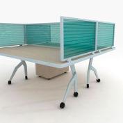 "OBEX P.E 12"" Polycarbonate Desk Mounted Privacy Panel Green, 12X66P-A-G-DM"