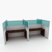 "OBEX P.E 12"" Polycarbonate Cubicle Mounted Privacy Panel w/ Large Bracket Green, 12X66P-A-G-LP"