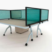 "OBEX P.E 18"" Polycarbonate Desk Mounted Privacy Panel Green, 18X36P-B-G-DM"
