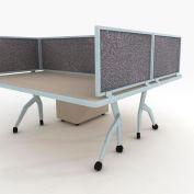 "OBEX P.E 18"" Acoustical Desk Mounted Privacy Panel Graphite, 18X42A-A-GR-DM"