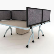 "OBEX P.E 18"" Acoustical Desk Mounted Privacy Panel Graphite, 18X60A-B-GR-DM"