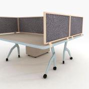 "OBEX P.E 24"" Acoustical Desk Mounted Privacy Panel Graphite, 24X24A-L-GR-DM"
