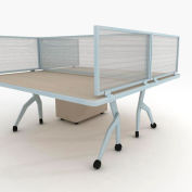 "OBEX P.E 24"" Polycarbonate Desk Mounted Privacy Panel Translucent, 24X24P-A-T-DM"