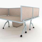 "OBEX P.E 24"" Acoustical Desk Mounted Privacy Panel Birch, 24X30A-A-BI-DM"
