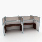 "OBEX P.E 24"" Polycarbonate Cubicle Mounted Privacy Panel w/ Large Bracket Bronze, 24X36P-A-S-LP"