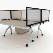 "OBEX P.E 24"" Polycarbonate Desk Mounted Privacy Panel Translucent, 24X36P-B-T-DM"