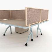 "OBEX P.E 24"" Acoustical Desk Mounted Privacy Panel Field, 24X48A-L-FI-DM"