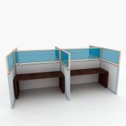 "OBEX P.E 24"" Polycarbonate Cubicle Mounted Privacy Panel w/ Large Bracket Blue, 24X60P-L-B-LP"