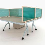 "OBEX P.E 24"" Polycarbonate Desk Mounted Privacy Panel Green, 24X60P-L-G-DM"