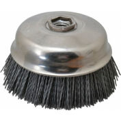 "Osborn 321320  Abrasive ATB Cup Brush 6"" x .045 x 5/8-11 Silicon Carbide 7000 Rpm 80 Grit"