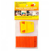 "Scraperite Plastic Razor Blades with General Purpose Holder, Orange, 3/5"" - SR 25 GPOE"