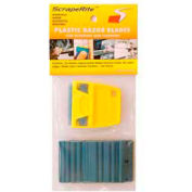 Scraperite Plastic Razor Blades with Polycarbonate Holder, 25 Pack - SR 25 PCBE