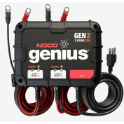 NOCO Genius 20 Amp 2-Bank Waterproof Onboard Battery Charger - GEN2