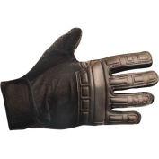 Premium Embossed Back Gel Gloves, Black, Large