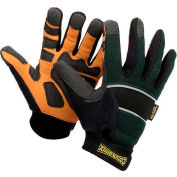 Classic Cut Resistant Kevlar Work Gloves, Green with Black Trim, Small