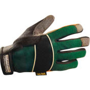 Classic Cut Resistant Kevlar Work Gloves, Green with Black Trim, Large