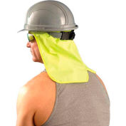 Hard Hat Sweatband w/Neck Shade, Yellow