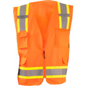 Value Solid Two-Tone Vest Class 2 Hi-Vis Orange XL