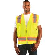 Value Solid Two-Tone Vest Class 2 Hi-Vis Yellow M