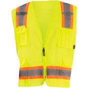 Value Mesh Two-Tone Vest Class 2 Hi-Vis Yellow L