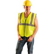 Class 2 Solid Vest, Hi-Vis Orange 4/5X