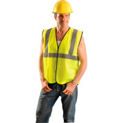 Class 2 Solid Vest, Hi-Vis Orange S/M