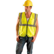 Value Mesh Surveyor Vest, Hi-Vis Yellow, 2/3 XL