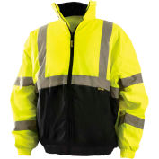 OccuNomix Value Bomber Jacket Class 3 Hi-Vis Yellow With Black Bottom 3XL, LUX-250-JB-BY3X
